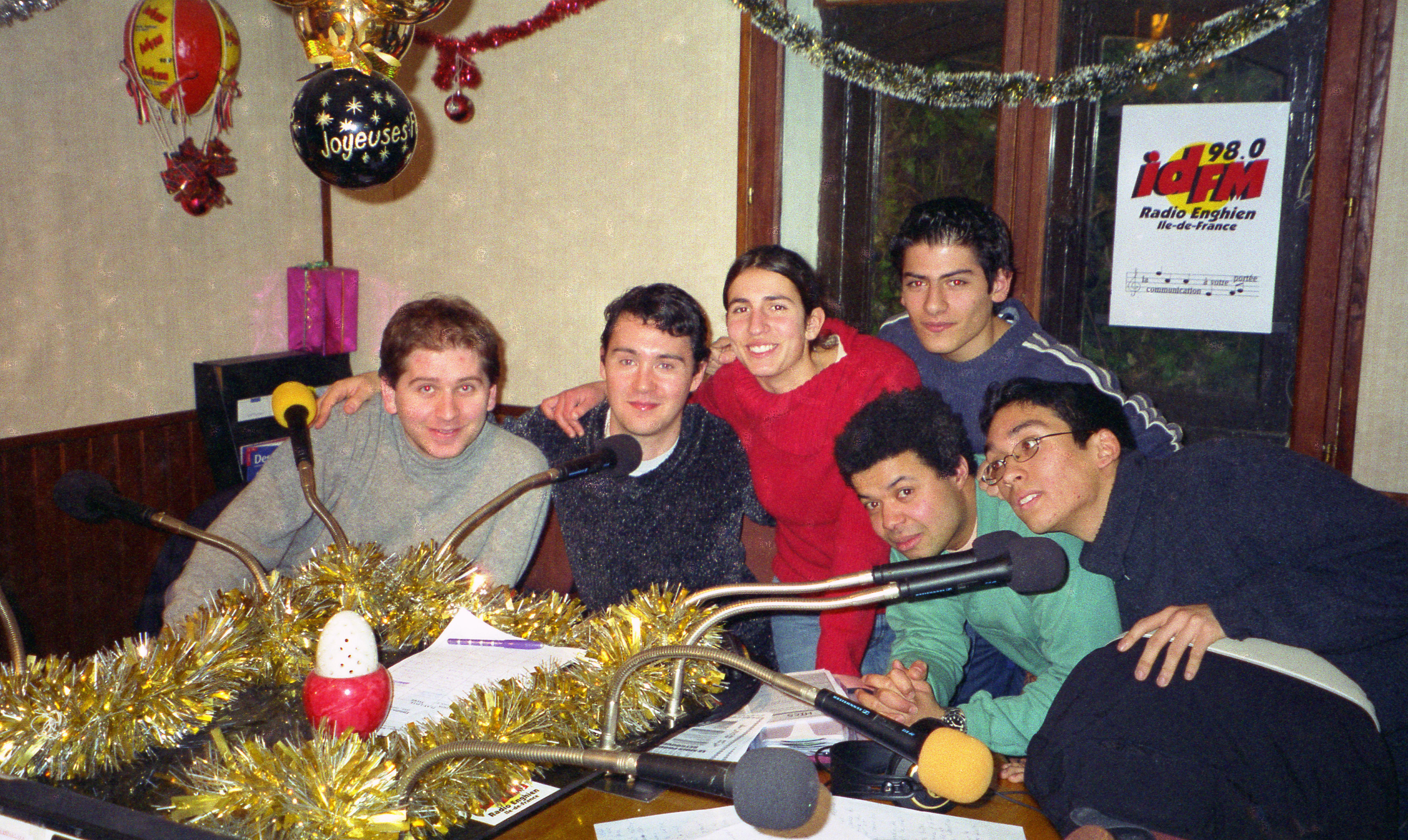La Big Bang team 2002 : Ivan, Didier Mesgard, Léonie, Pierre-Alexandre, Petit Manu et JC