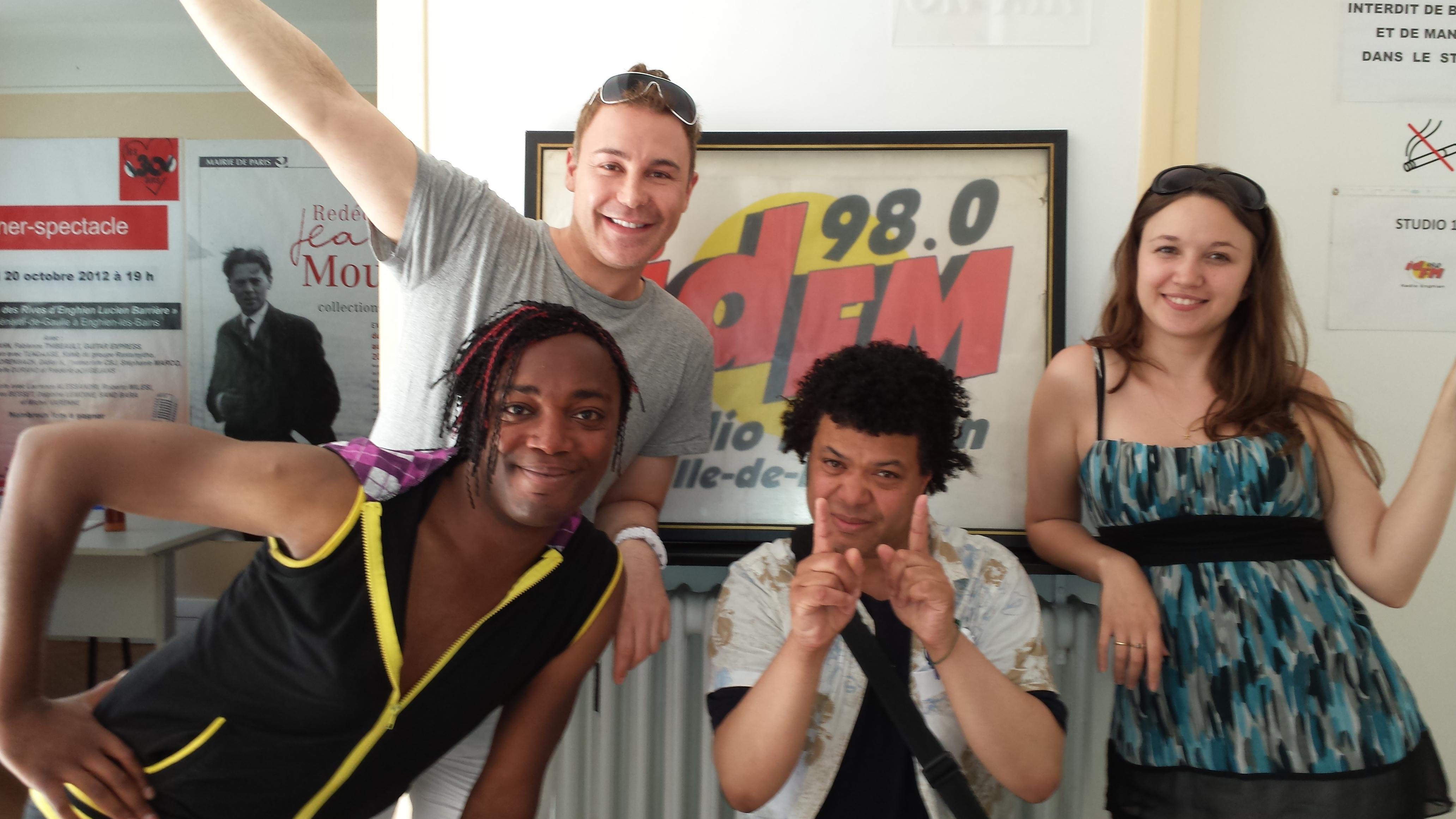 La Big Bang team de l'été 2013 : Dylan, Didier Mesgard, Petit Manu et Charlène