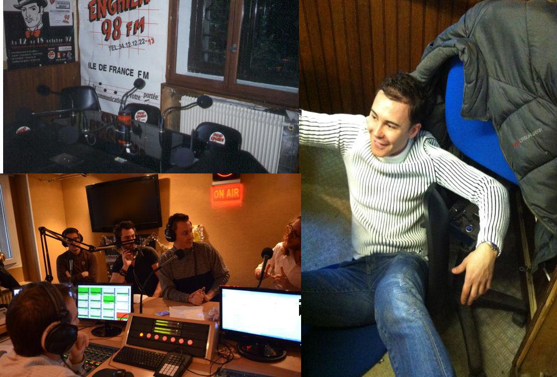 En 2012, nous quittons nos anciens studios. Il était temps : la chaise de Didier s'écroule en plein direct !