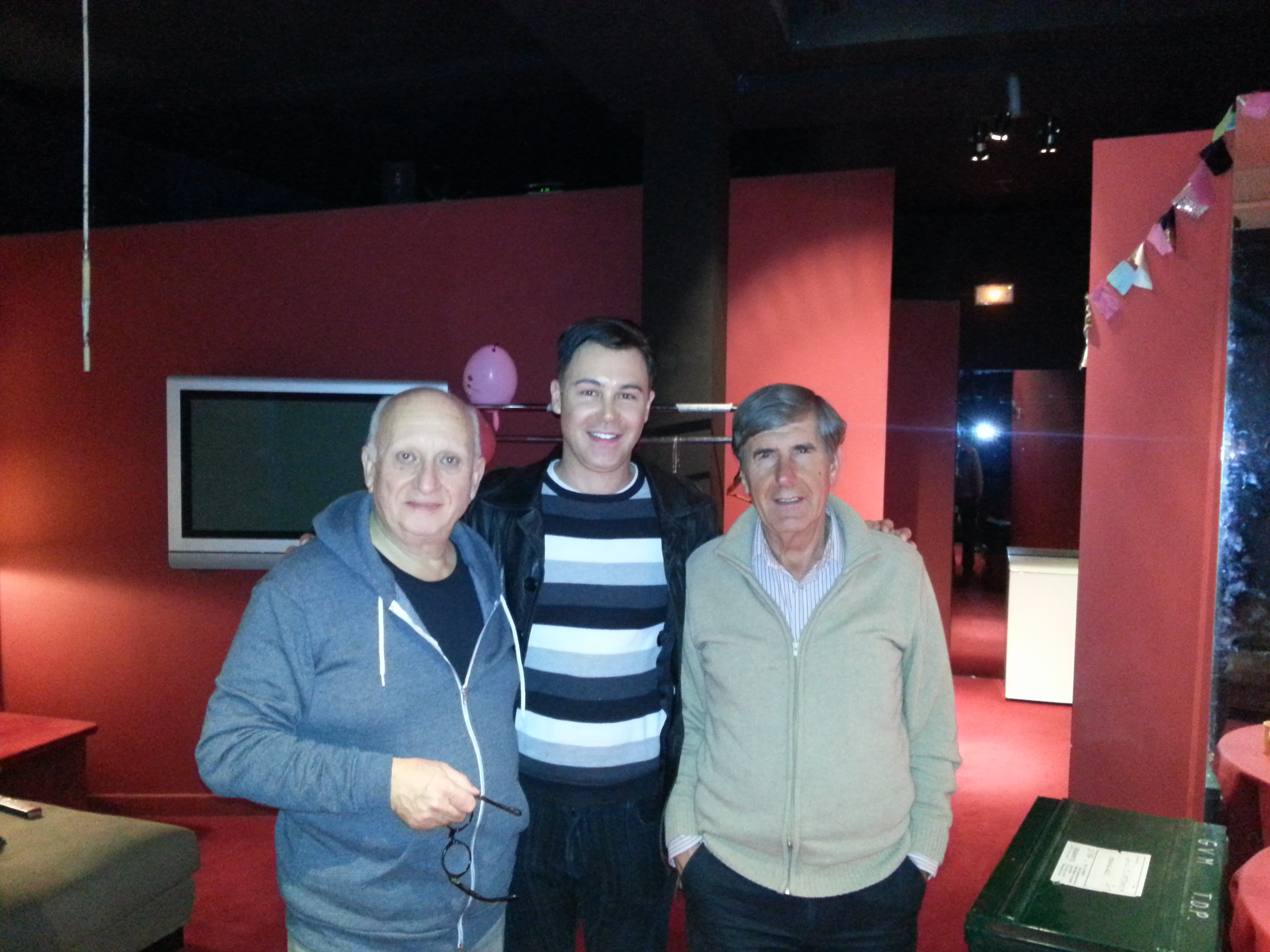 Jean-Paul Muel et Bernard Menez ont accueilli Didier dans les loges pour