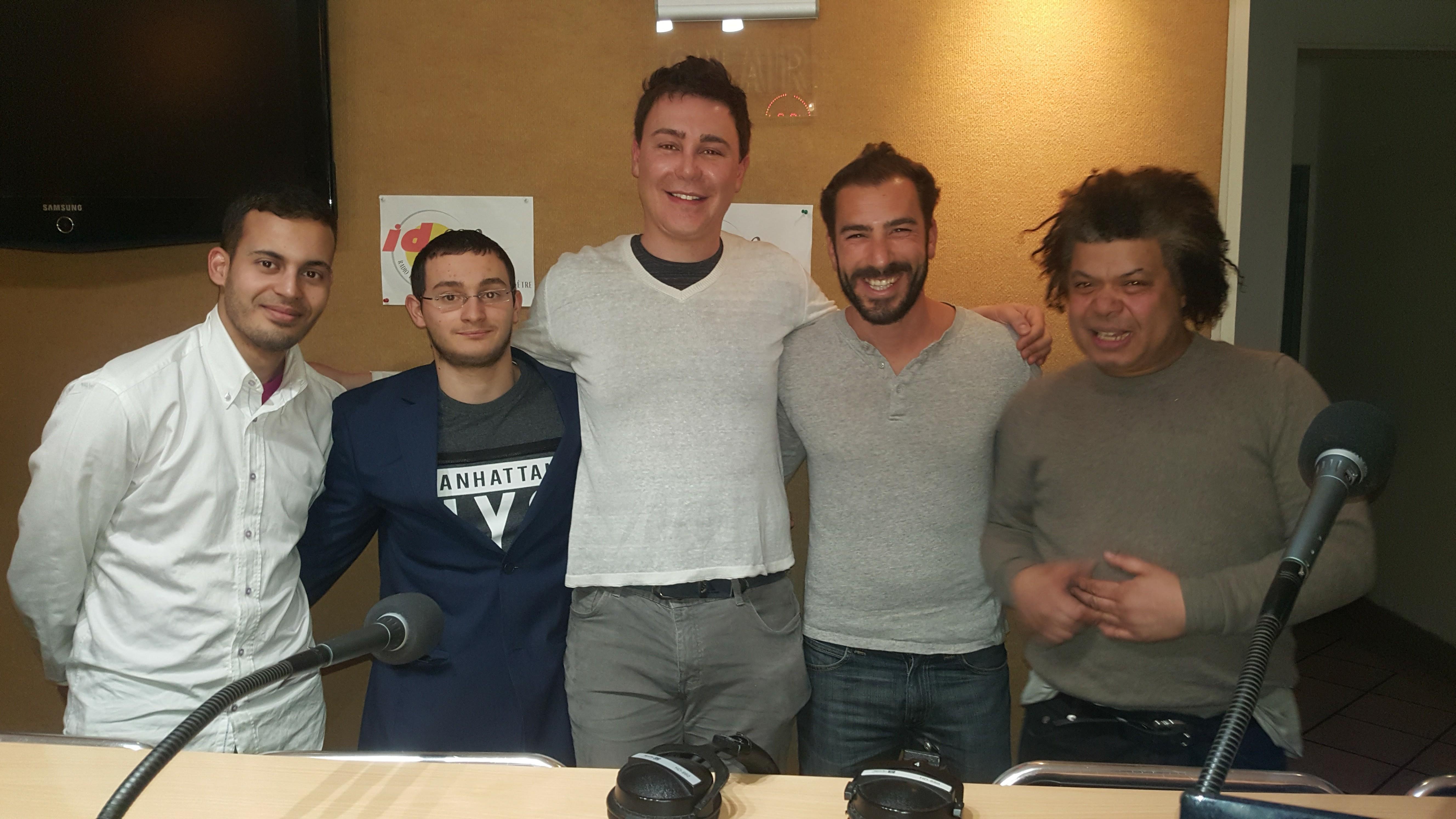 Nouvelle Big Bang team avec Hakim, Dany et Nono (de gauche à droite, autour de Didier)