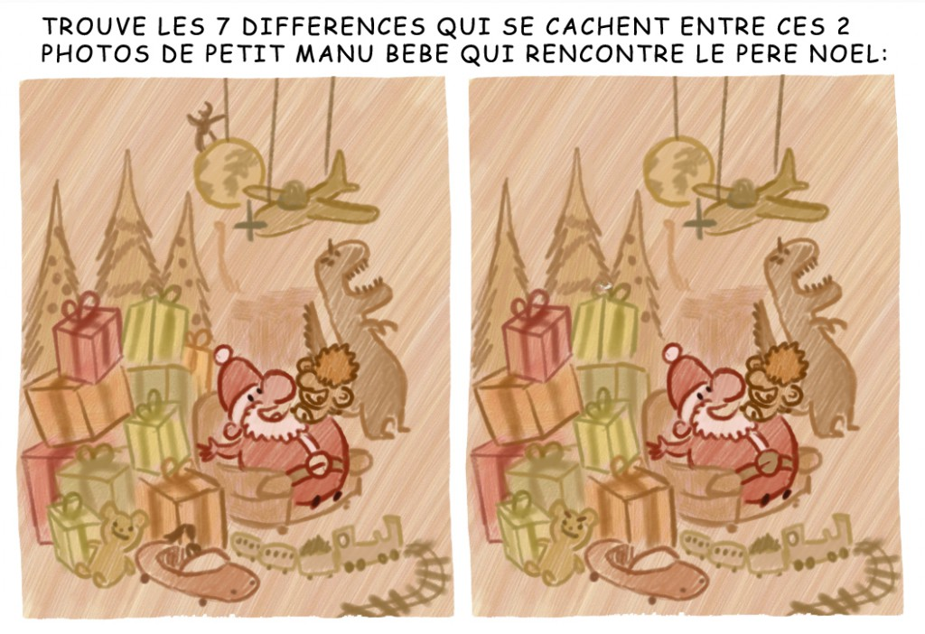 bd big bang jeu 7 differences pere    noel