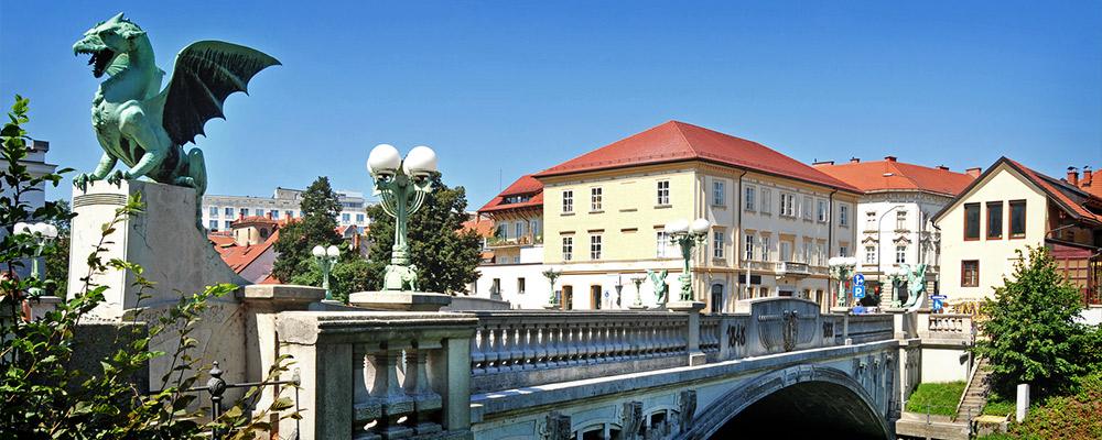 Le pont des Dragons de Ljubljana