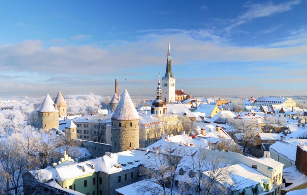 Tallinn sous la neige
