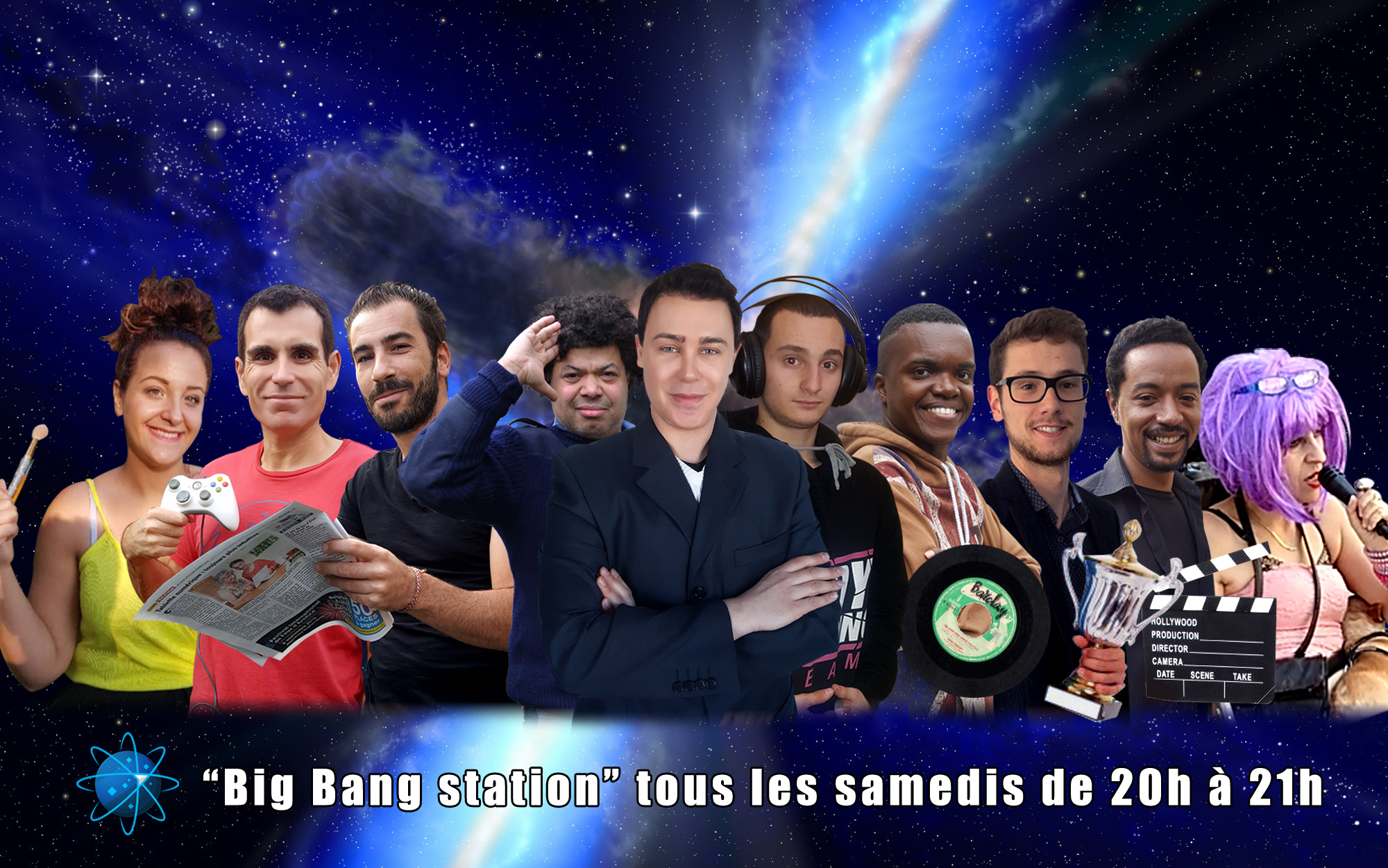 Une nouvelle Big Bang team : Marie, Olivier, Nono, Petit Manu, Didier, Dany, Kevin, Pierre, Luis et Sophie